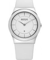 Buy Bering Time Ceramic White Calfskin Watch online