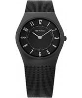 Buy Bering Time Ladies All Black Mesh Watch online