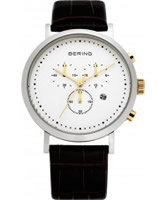 Buy Bering Time Mens Brown Chronograph Watch online