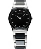 Buy Bering Time Ladies Ceramic Black Silver Watch online