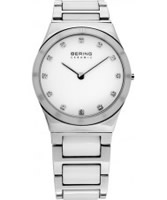 Buy Bering Time Ladies Ceramic White Silver Watch online