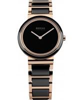 Buy Bering Time Ladies Ceramic Black Rose Watch online
