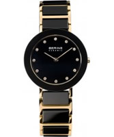 Buy Bering Time Ladies Black and Rose Gold Ceramic Watch online