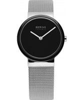 Buy Bering Time Ladies Ceramic Silver Mesh Watch online