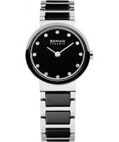 Buy Bering Time Ladies Black and Silver Ceramic Watch online