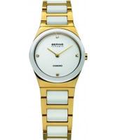 Buy Bering Time Ladies Ceramic White Gold Watch online