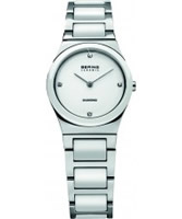 Buy Bering Time Ladies Ceramic White Silver Watch online
