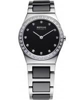 Buy Bering Time Ladies Ceramic Black Crystal Watch online