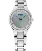 Buy Bering Time Ladies Ceramic Silver Watch online