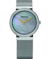 Buy Bering Time Ladies Pearl and Silver Watch online
