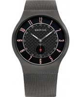 Buy Bering Time Mens Black and Grey Radio Controlled Watch online