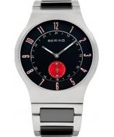 Buy Bering Time Mens Black and Silver Radio Controlled Watch online
