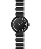 Buy Bering Time Ladies Black and Silver Ceramic Watch online