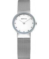 Buy Bering Time Ladies Silver Classic Mesh Watch online