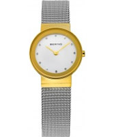 Buy Bering Time Ladies Gold and Silver Classic Mesh Watch online