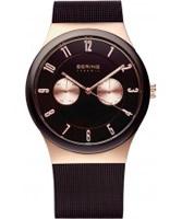 Buy Bering Time Mens Brown Multifunction Ceramic Watch online