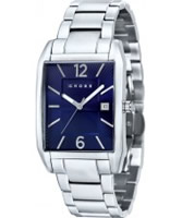 Buy Cross Mens Gotham Blue Silver Watch online