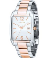 Buy Cross Mens Gotham White Rose Gold Watch online