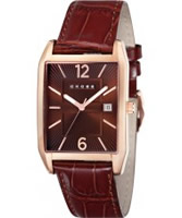 Buy Cross Mens Gotham Brown Watch online
