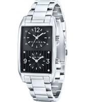 Buy Cross Mens Gotham Black Silver Watch online