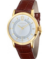 Buy Cross Mens Cambria White Brown Watch online