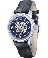 Buy Cross Mens Palatino Skeleton Blue Watch online