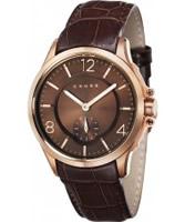 Buy Cross Mens Helvetica Brown Watch online