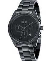 Buy Fjord Mens DAN Chronograph Black IP Watch online