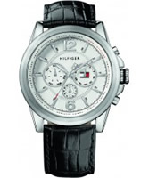 Buy Tommy Hilfiger Mens Silver and Black Bayside Chronograph Watch online
