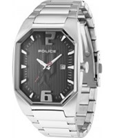 Buy Police Mens Octane Silver Black Watch online