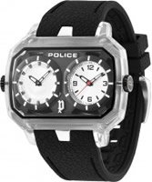 Buy Police Mens Hydra Black Silver Watch online