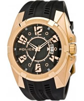 Buy Police Mens Rose Gold and Black Radical-X Watch online