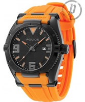 Buy Police Mens Black and Orange Raptor Watch online