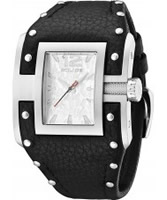 Buy Police Mens Silver and Black Avenger Watch online