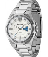 Buy Police Mens White and Silver Seal Watch online