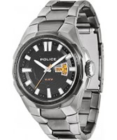 Buy Police Mens Black and Silver Seal Watch online