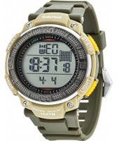 Buy Timberland Mens Cadion Green Silicone Strap Watch online