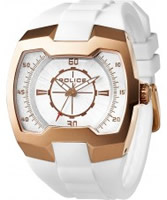 Buy Police Mens Rose Gold and White Endeavor Watch online