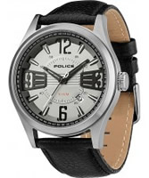 Buy Police Mens Silver and Black Lancer Watch online