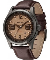 Buy Police Mens Brown Lancer Watch online