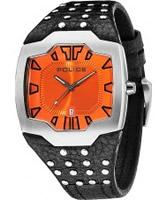 Buy Police Mens Orange and Black Beast Watch online
