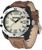 Buy Timberland Mens Brookline Brown Leather Strap Watch online