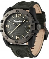 Buy Timberland Mens Brookline Green Leather Strap Watch online