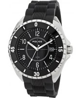 Buy Police Mens Silver and Black Miami II Watch online