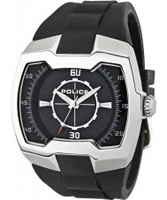 Buy Police Mens Silver and Black Endeavor Watch online