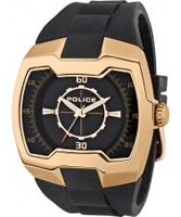 Buy Police Mens Rose Gold and Black Endeavor Watch online