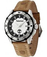 Buy Timberland Mens White Brown Shoreham Watch online