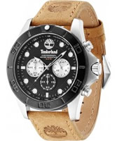 Buy Timberland Mens Black Tan Northfield Chronograph Watch online