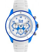 Buy Ice-Watch Mens White and Blue Ice-Party Big Big Watch online