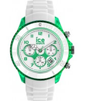 Buy Ice-Watch Mens White and Green Ice-Party Big Big Watch online